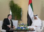 محمد بن زايد يحادث وزير الخارجية الأميريكي