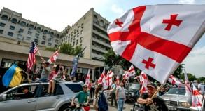 تظاهرة للمعارضة في تبيليسي في 24 يونيو 2019