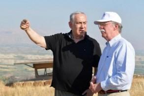 صورة من جولة نتانياهو وبولتون في غور الأردن يوم الأحد