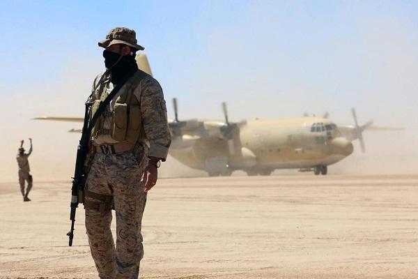 عنصر من القوات الخاصة السعودية على الحدود اليمنية