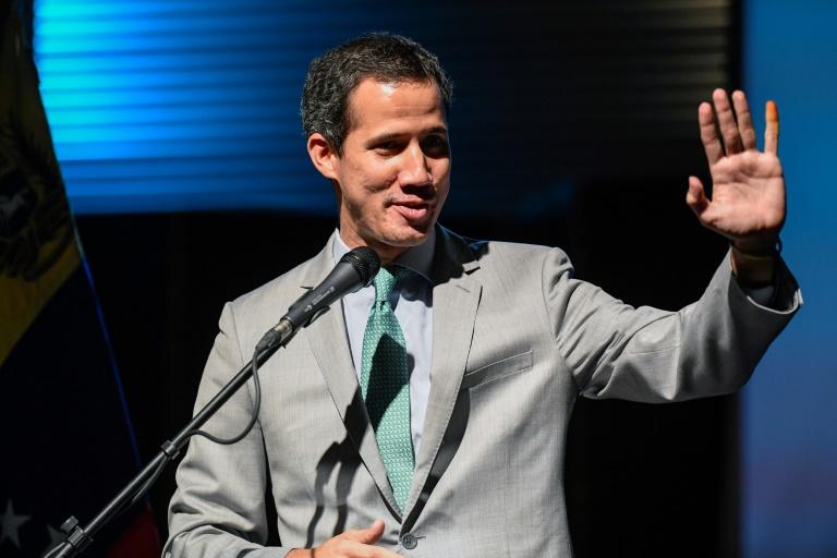 المعارض الفنزويلي خوان غوايدو خلال مؤتمر في جامعة ميتروبوليتان في كراكاس في 26 حزيران/يونيو 2019
