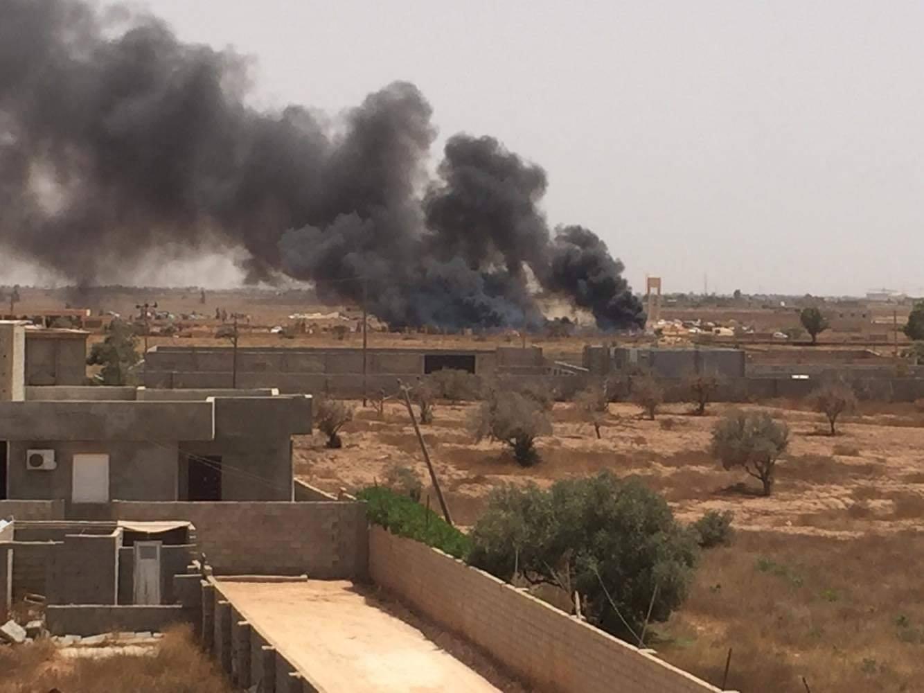صور تداولتها صفحات ليبية للاعتداء في بنغازي