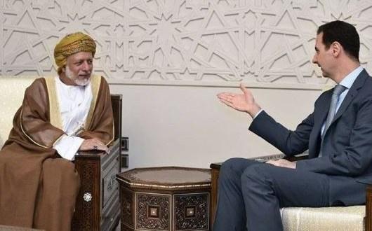 لقاء سابق يجمع بين الأسد وابن علوي (سانا)