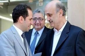 سمير جعجع (يمين) وسامي الجميّل