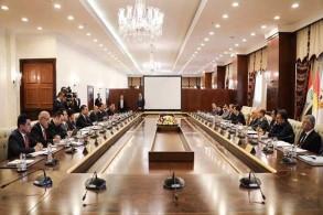 مجلس وزراء حكومة إقليم كردستان العراق منعقدًا برئاسة مسرور بارزاني