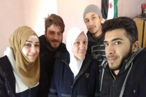 الناشطة رانيا الحلبي لدى الإفراج عنها في عفرين