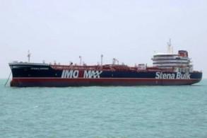 ناقلة النفط التي تحمل العلم البريطاني ترسو في ميناء بندر عباس جنوب إيران