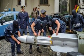 الصاروخ الذي جرى ضبطه الإثنين في إيطاليا