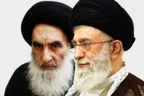 المرجعان الشيعيان السيستاني وخامنئي
