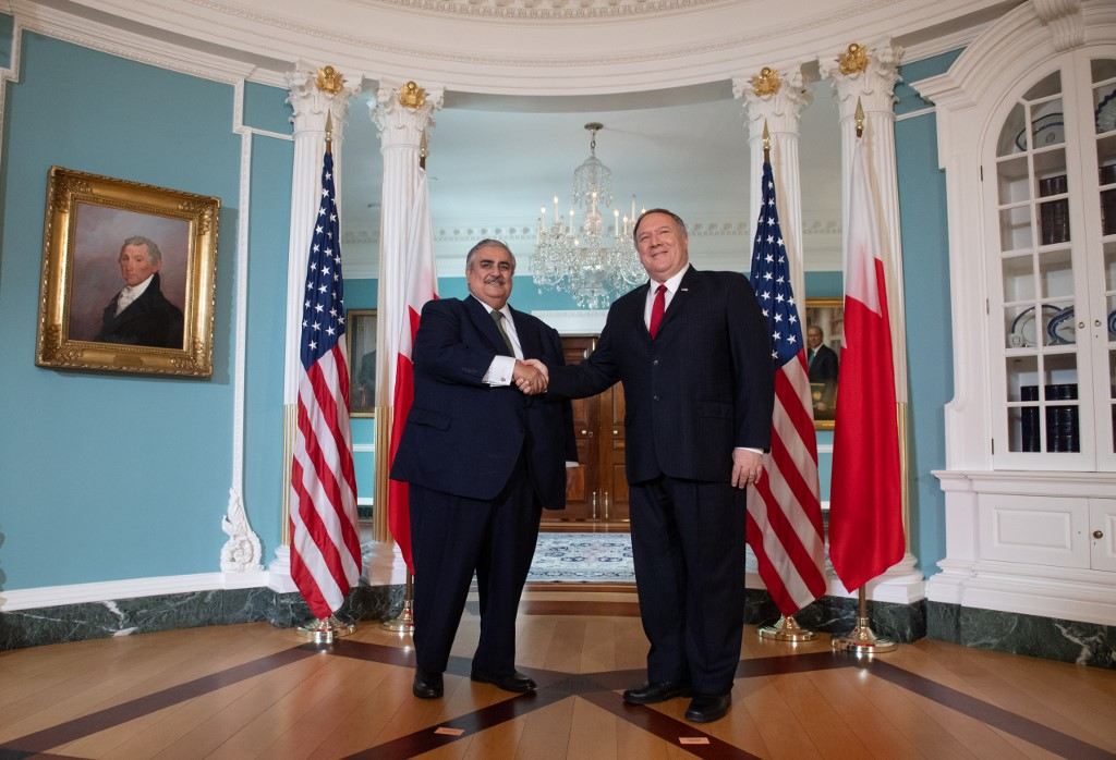 وزيرا خارجية واشنطن والمنامة في مقر الخارجية الأميركية