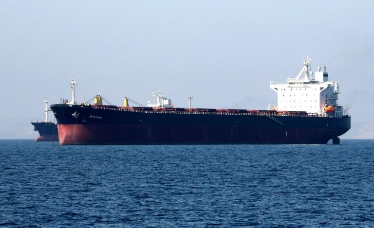 ناقلة نفط قبالة ميناء بندر عباس الإيراني في 30 نيسان/ابريل 2019