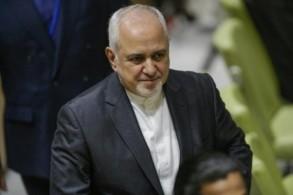 وزير الخارجية الإيراني محمد جواد ظريف في نيويورك في 17 تموز/يوليو 2019.