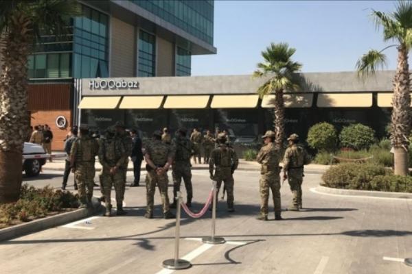 قوات كردية تحيط بالمطعم الذي شهد الهجوم على موظفي القنصلية التركي في أربيل