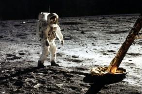 باز ألدرين على القمر في 20 يوليو 1969