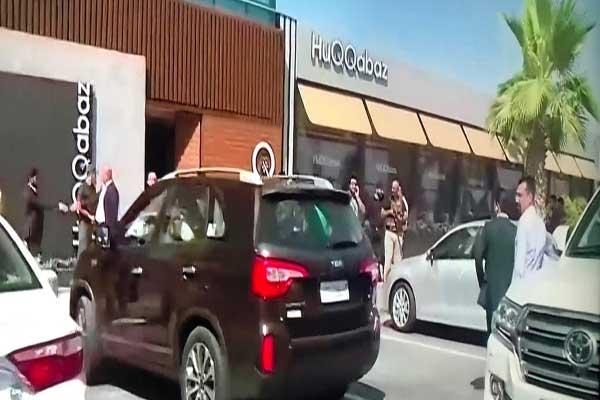قوات أمنية حول المطعم الذي وقع فيه الهجوم في أربيل