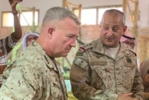 الأمير فهد بن تركي والجنرال كينيث ماكينزي