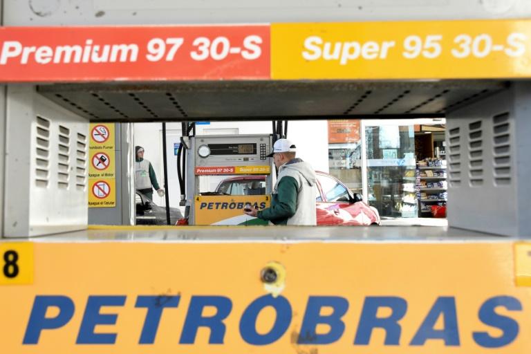 محطة تابعة لمجموعة بتروبراس البرازيلية في مونتيفيديو في الأوروغواي، 17 تموز/يوليو 2019