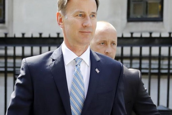 وزير الخارجية البريطاني جيريمي هانت (AFP)