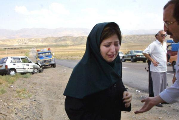 حادث اصطدام على الطريق في مدينة تبريز شمال غربي إيران-أرشيف