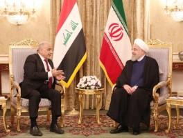عبد المهدي مجتمعا مع روحاني في طهران
