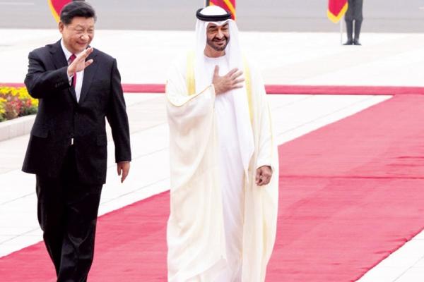 جانب من الاستقبال الحافل للشيخ محمد بن زايد في الصين