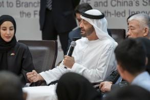 محمد بن زايد يحضر جانبا من الحلقة الشبابية الإماراتية ــ الصينية
