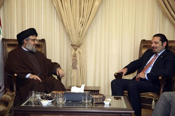 سعد الحريري (يمين) وحسن نصرالله
