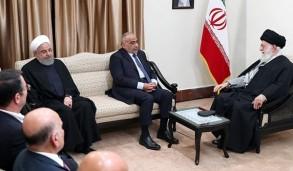 خامنئي مستقبلا عبد المهدي بحضور روحاني