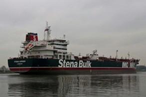 صورة موزعة لناقلة النفط البريطانة ستينا إيمبيرو قبالة سواحل أمستردام بتاريخ 26 ديسمبر 2018