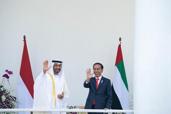 الشيخ محمد بن زايد والرئيس الإندونيسي جوكو ويدودو