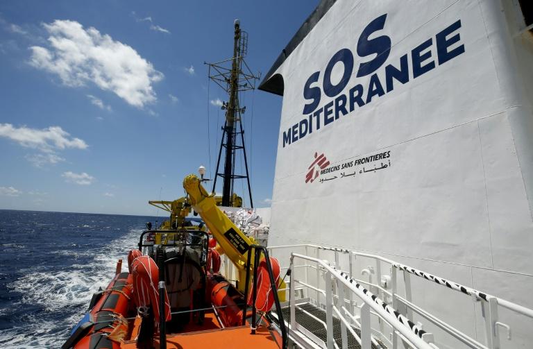 صورة من الارشيف بتاريخ 26 حزيران/يونيو 2018 لسفينة