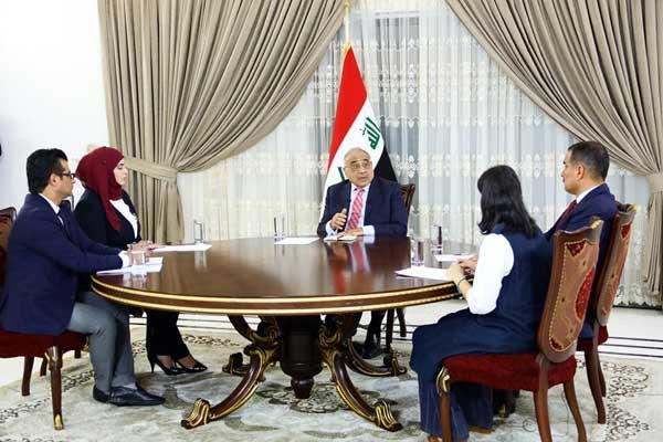 جلسة عبد المهدي الحوارية مع ممثلي وسائل إعلام عراقية وأجنبية