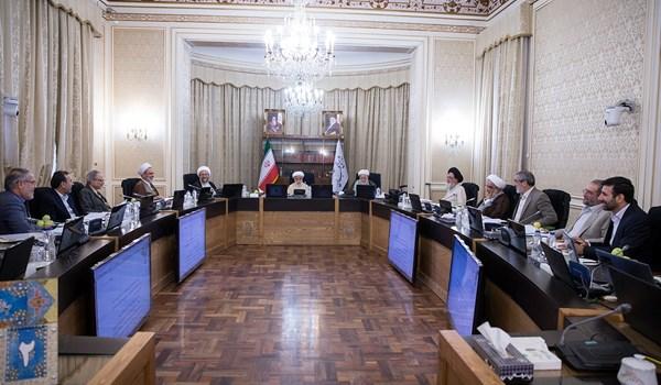 جانب من اجتماع مجلس صيانة الدستور الايراني