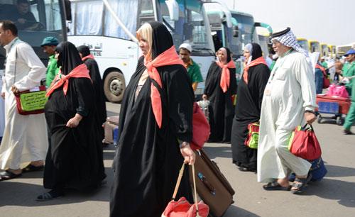 حجاج عراقيون عبر منفذ عرعر الحدودي مع السعودية