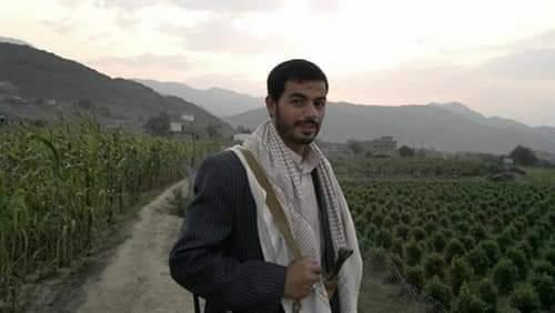 صورة متداولة على مواقع التواصل لمن يفترض أنه إبراهيم الحوثي