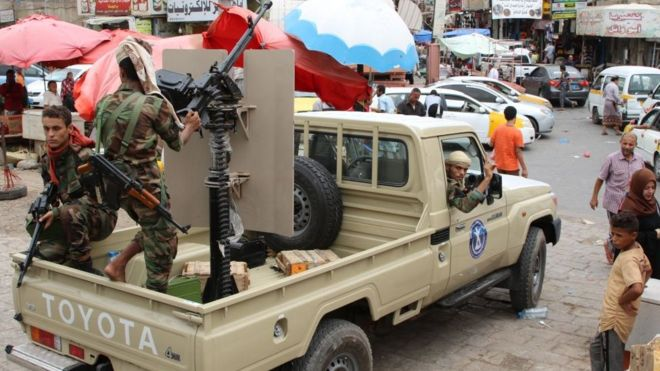 المقاتلون الانفصاليون في جنوب اليمن