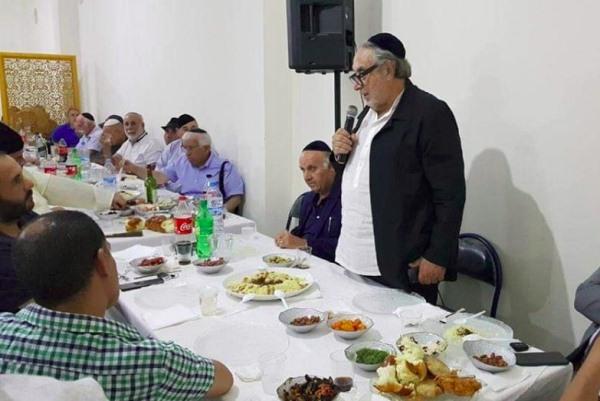 سيرج بيرديغو الأمين العام لمجلس الجماعات اليهودية بالمغرب يلقي كلمة خلال الحفل