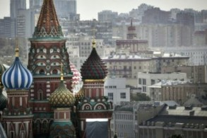 كاتدرائية القديس باسيليوس في وسط موسكو بتاريخ 7 آب/أغسطس 2019