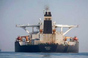 ناقلة النفط غريس-1 قبالة سواحل جبل طارق في 15 أغسطس 2019