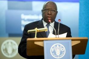 المدير العام لمنظمة الأمم المتحدة للأغذية والزراعة (فاو) خلال جلسة للمنظمة في روما في 17 ت1/أكتوبر 2011.