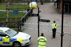 طوق للشرطة البريطانية قرب الموقع الذي عثر فيه على سيرغي سكريبال وابنته مصابين بعوارض تبين فيما بعد أنها ناجمة عن تسمم بغاز أعصاب