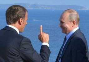 بوتين في ضيافة ماكرون عند قلعة بريغانسون على شاطئ البحر المتوسط