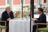 ماكرون وترمب يلتقيان حول غداء قبل افتتاح G7