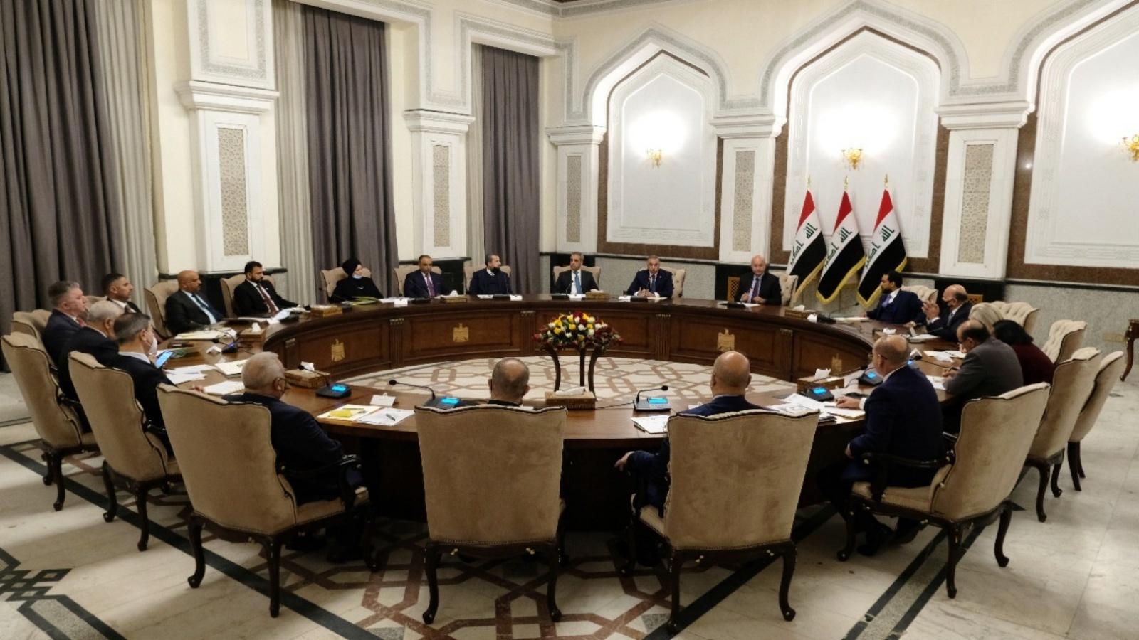 الرئاسات العراقية خلال اجتماعها امس مع بعثة الامم المتحدة ومفوضية الانتخابات حول موعد الانتخابات المبكرة