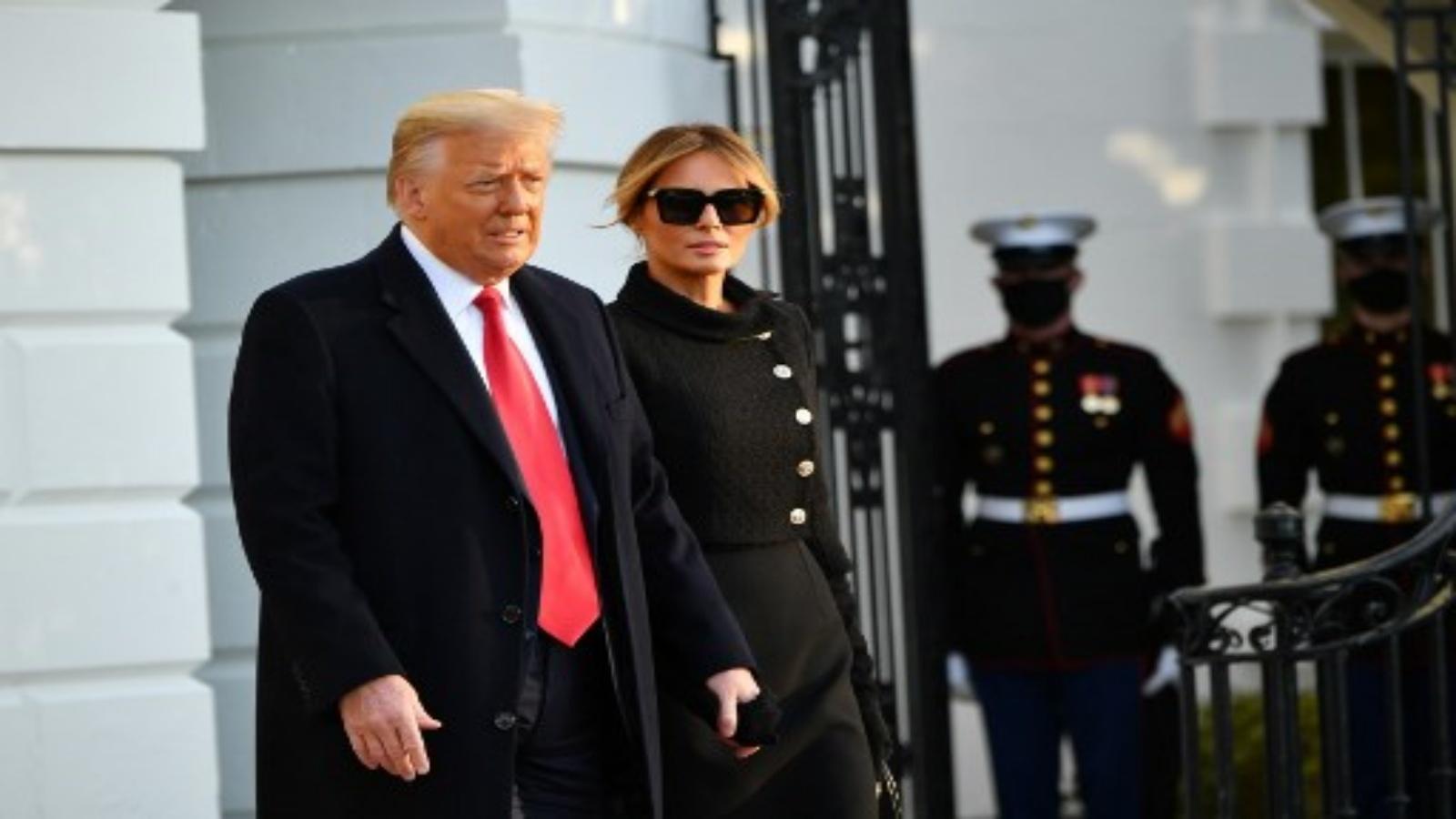 ترمب يغادر البيت الأبيض قبل ساعات من انتهاء ولايته الرئاسية