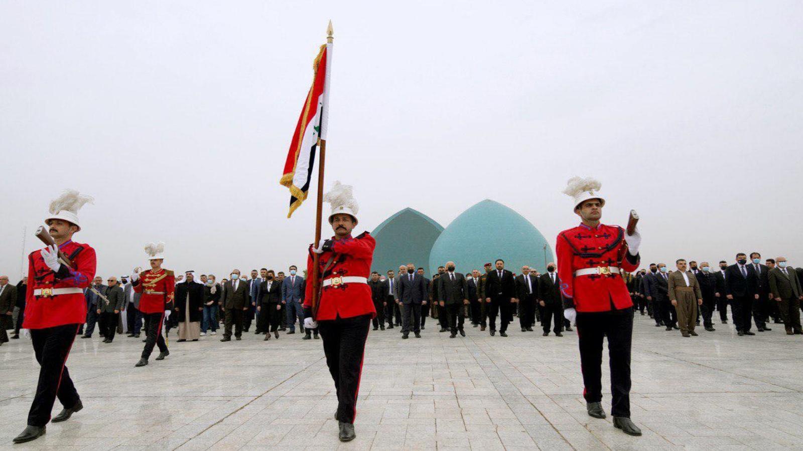 الرئيسان صالح والكاظمي شاركا الخميس في مراسيم التشييع الرمزي لضحايا الايزيديين