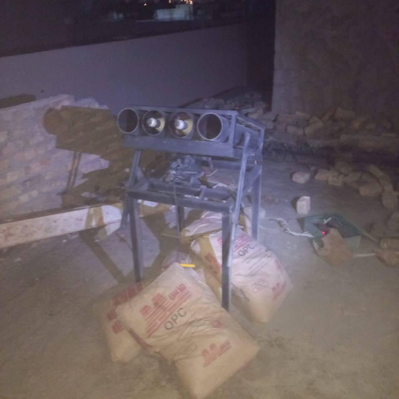 منصة صواريخ اطلقت على موقع اميركي قرب مطار بغداد الدولي ليل الخميس