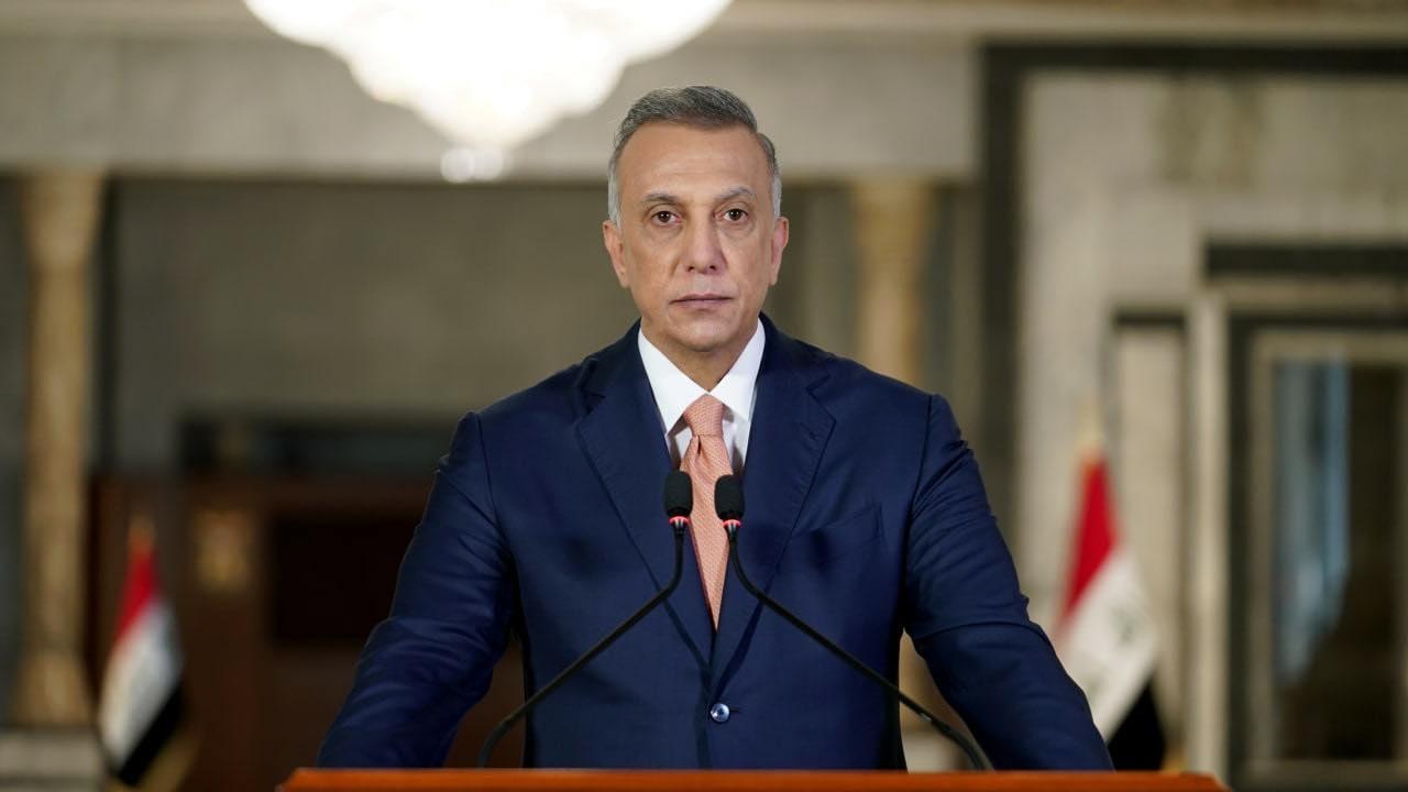 الكاظمي متحدثا الى العراقيين مساء الخميس لمناسبة مرور عام على تشكيل حكومته الحالية
