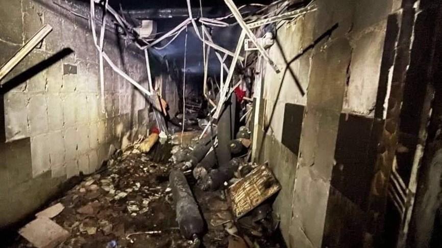 ركام حريق مستشفى ابن الخطيب في بغداد