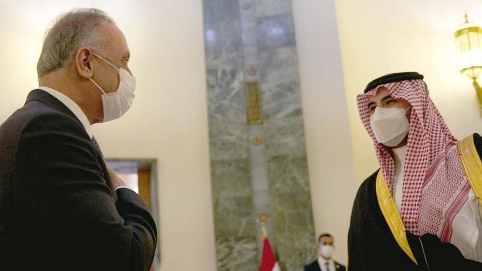 الكاظمي مستقبلا في بغداد الثلاثاء نائب وزير الدفاع السعودي الامير خالد بن سلمان